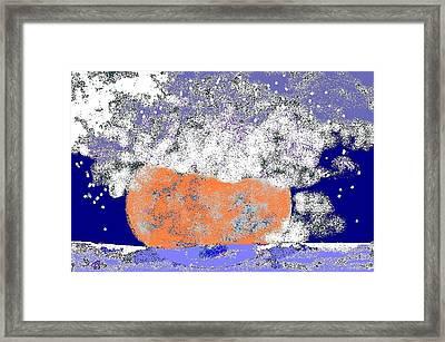 Moon Sinks Into Ocean Framed Print by Beebe  Barksdale-Bruner