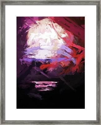 Moon Sky Pink Sea Framed Print