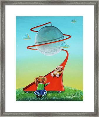 Moon Slide Framed Print by Cindy Thornton