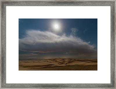Moon Sparkle Framed Print