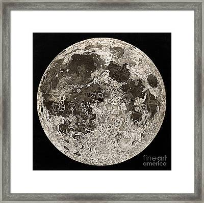 Moon Surface By John Russell Framed Print by Wellcome Images