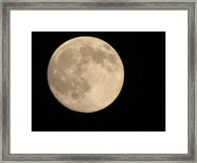 Moon Framed Print by Sylvia Wanty