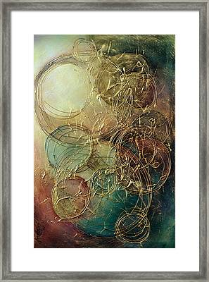 Moon Thread Framed Print by Michael Lang