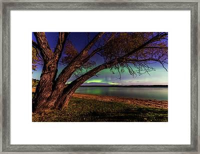Moon Vs Aurora Framed Print
