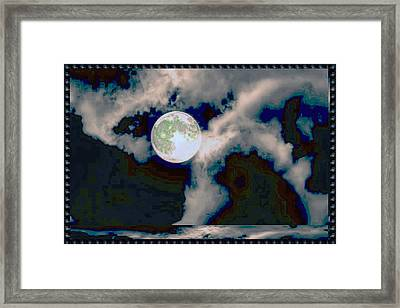 Moon Walk By The Clouds Framed Print