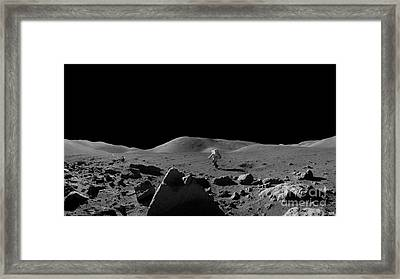 Moon Walk Framed Print by Jon Neidert