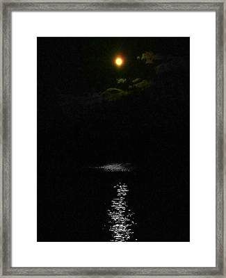 Moon Way Framed Print by Aron Chervin