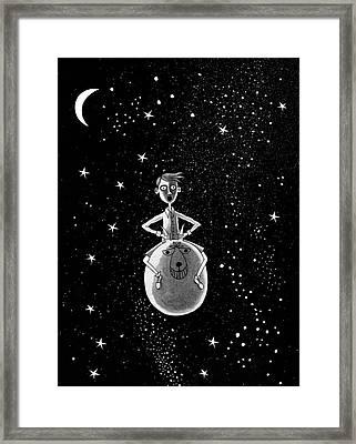 Moonage Daydream  Framed Print