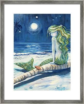 Moonbathing Framed Print by Maggii Sarfaty