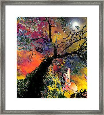 Moonbathing Framed Print by Miki De Goodaboom