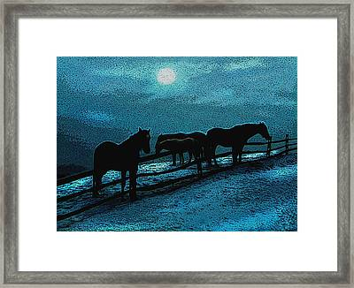 Moonbeam Framed Print