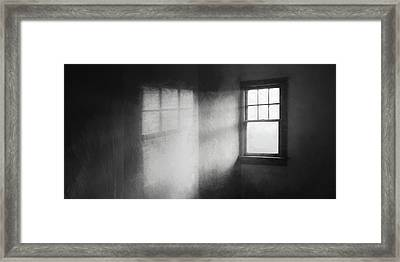 Moonbeams On The Attic Window Framed Print