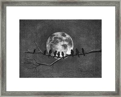 Moonbirds Framed Print by J Ferwerda