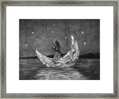 Moonboat Framed Print by J Ferwerda
