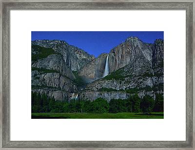 Moonbow Yosemite Falls Framed Print
