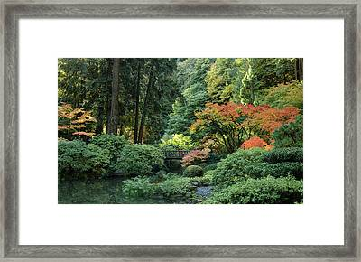 Moonbridge Autumn Serenade Framed Print