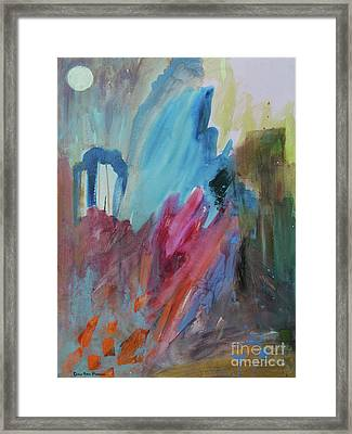 Framed Print featuring the painting Moonchaser by Robin Maria Pedrero