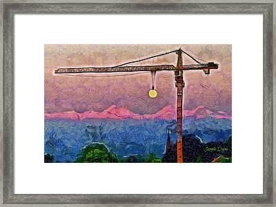 Mooncrane - Pa Framed Print