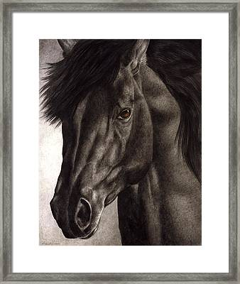 Moondark Framed Print