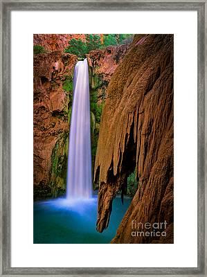 Mooney Falls Framed Print by Inge Johnsson