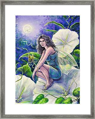 Moonflower Framed Print by Gail Butler