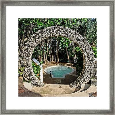 Moongate - Bermuda Framed Print by DJ Florek