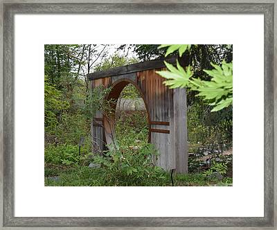 Moongate Framed Print