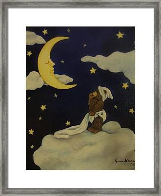 Moongazer Framed Print by Joan Barnard