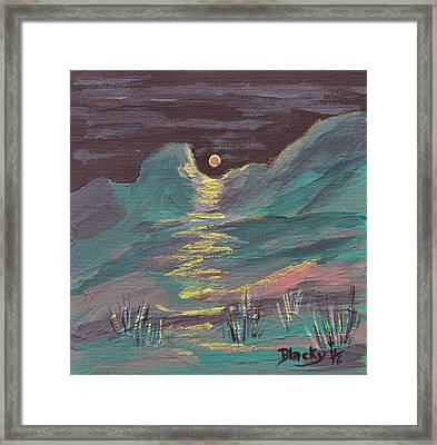 Moonglow On The High Desert Framed Print by Donna Blackhall