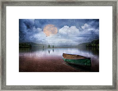Moonglow On The Lake Framed Print