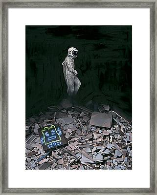Framed Print featuring the painting Mooninite by Scott Listfield
