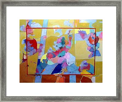 Framed Print featuring the painting Moonlight And Bougainvillea by Bernard Goodman
