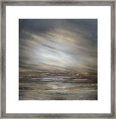 Moonlight And  Driftwood Series Druridge Bay Framed Print by Mike   Bell