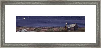 Moonlight And School Framed Print by Scott Kirby
