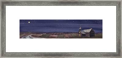 Moonlight And School Framed Print by Scott Kirby