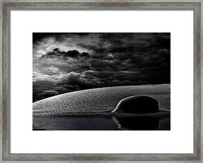 Moonlight And Snow Framed Print by Bob Orsillo
