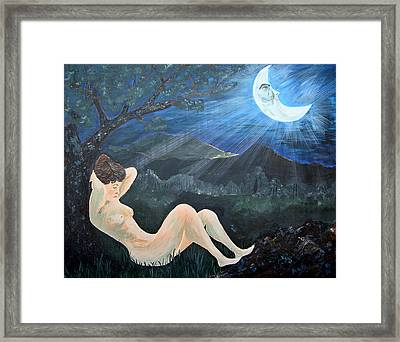 Moonlight And Sorrow Framed Print by Donna Blackhall