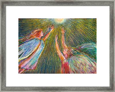 Moonlight Angels Framed Print by Laurie Parker