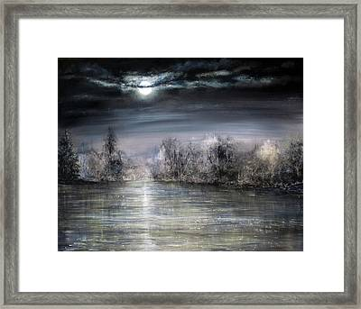Moonlight Framed Print by Ann Marie Bone
