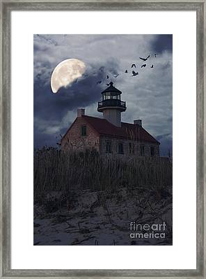 Moonlight At East Point Framed Print by Debra Fedchin