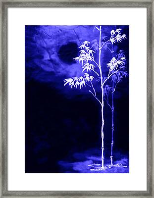 Framed Print featuring the painting Moonlight Bamboo by Lanjee Chee