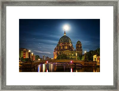 Moonlight - Berlin Germany Framed Print by Nico Trinkhaus