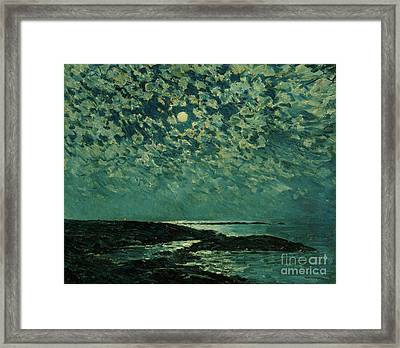 Moonlight Framed Print by Childe Hassam