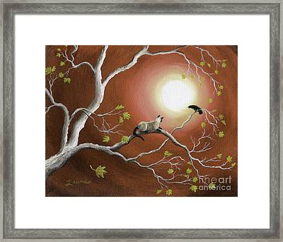 Moonlight Conversation In Sepia Framed Print