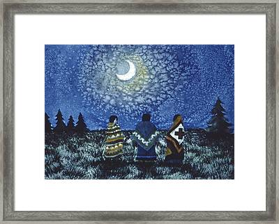 Moonlight Counsel Framed Print