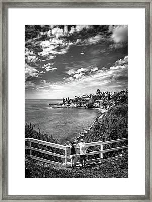 Moonlight Cove Overlook Framed Print