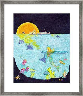 Moonlight Crossing 2 Framed Print