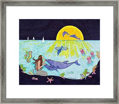 Moonlight Crossing 3 Framed Print
