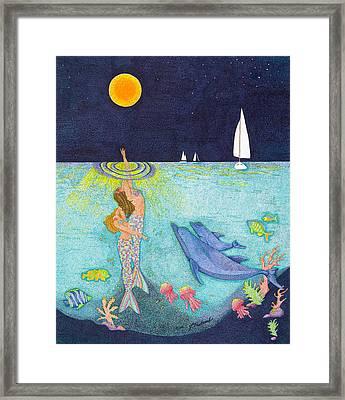 Moonlight Crossing Framed Print