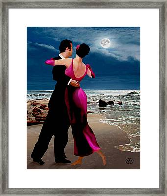 Moonlight Dance V2 Framed Print by Ron Chambers